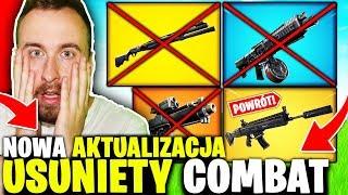 COMBAT / SHOTGUN BĘBNOWY USUNIĘTY ! * NOWA AKTUALIZACJA * W FORTNITE