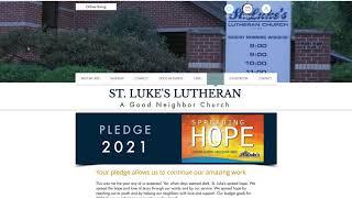 Complete your 2020 Pledge | St. Luke's
