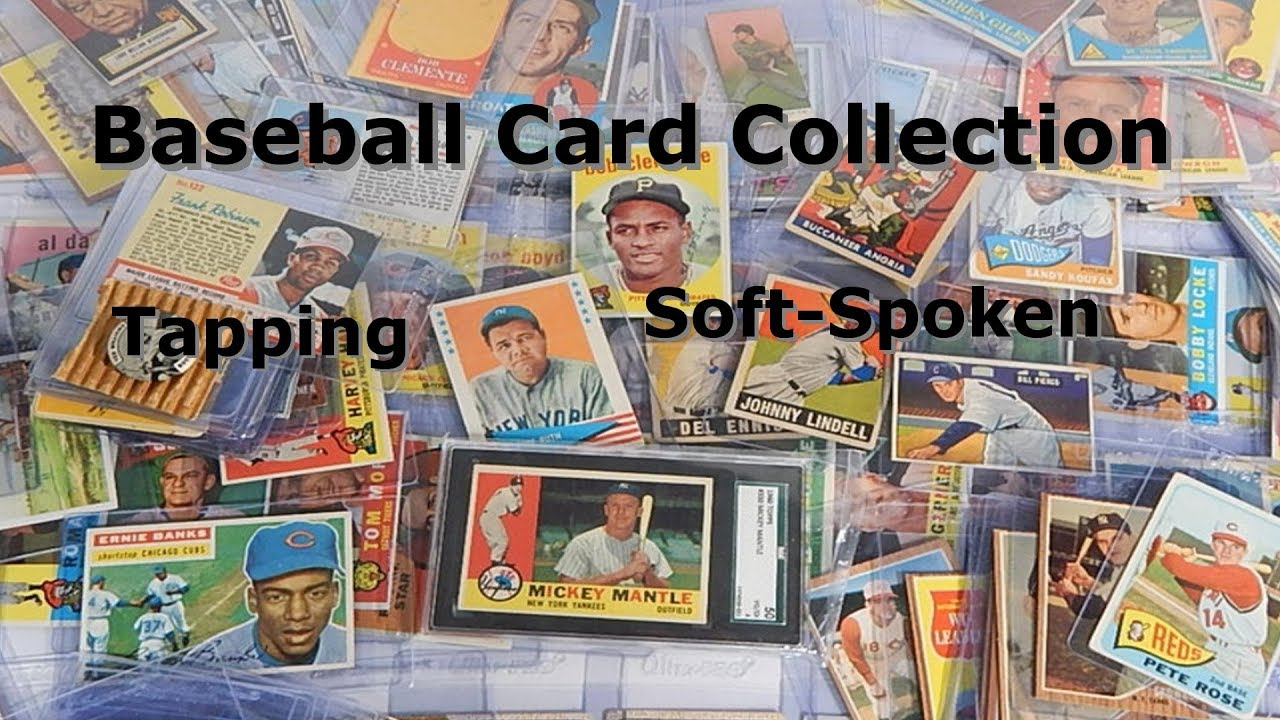 My Baseball Card Collection Asmr Tapping Vintage