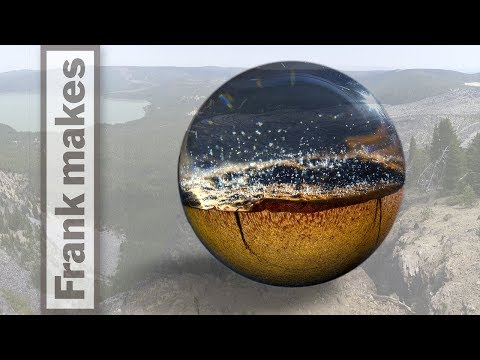 Wood Turning a Sphere with Resin