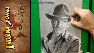 Indiana Jones Portrait Drawing ᴴᴰ