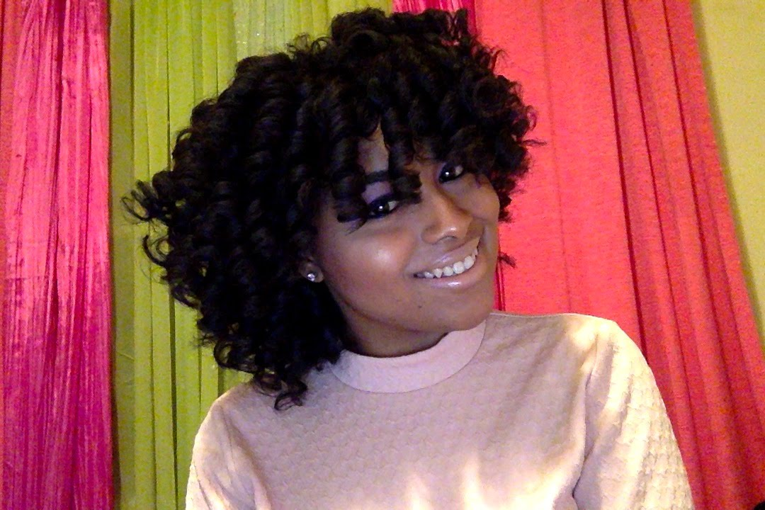 Curly Fro Perm Rod Set On Natural Hair Tutorial How To