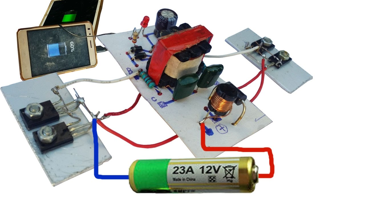 Ac 220v Schematic Wiring How To Make Inverter 12v To 220v Circuit 50w Can Use Only