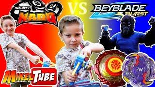 Jugamos nuestra Epic Battle con peonzas Infinity Nado y Beyblade thumbnail
