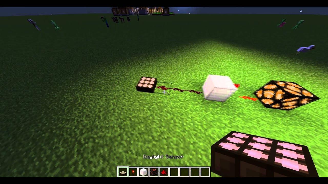 Minecraft : Night Time Sensor Tutorial HD (Using Daytime Sensor)