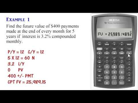 BA II Plus - Ordinary Annuity Calculations (PV, PMT, FV)