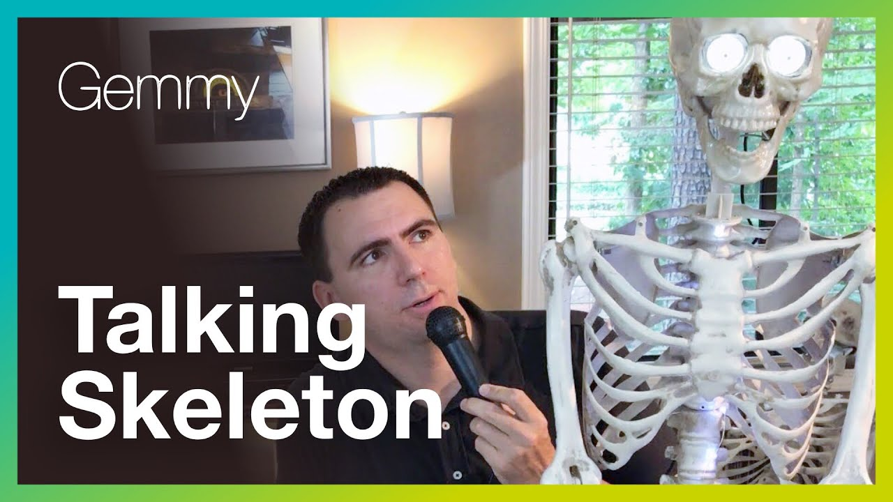 halloween review animated talking skeleton by gemmy - Talking Halloween Skeleton