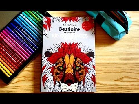 prsentation du livre art thrapie bestiaire 100 coloriages anti stress hachette youtube - Coloriage Anti Stress Hachette