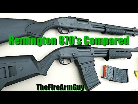 Remington 870 DM (Box Mag) vs 870 with Magazine Tube - TheFireArmGuy