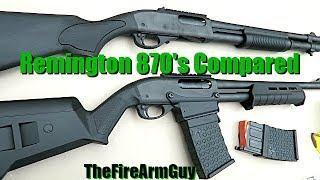 Remington 870 DM (Box Mag) vs 870 with Magazine Tube - TheFireArmGuy