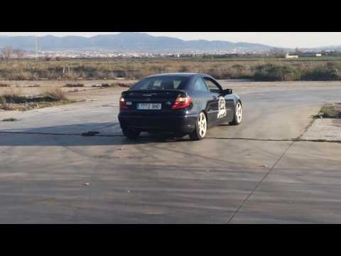 Mercedes Sportcoupe Drift And Exhaust Sound
