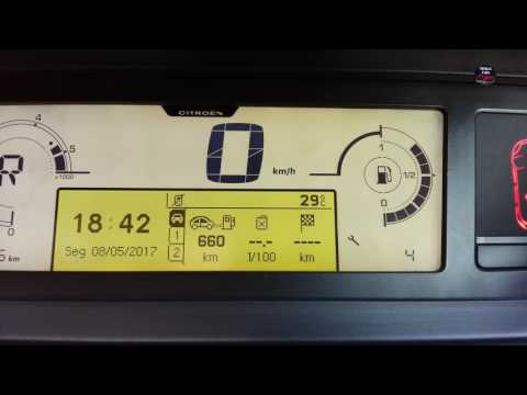 How to make maintenance reset on Citroen C4 Grand Picasso