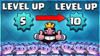 WOW! LEVEL 5 TO LEVEL 10 IN 20 MINUTES?! | Clash Royale | HUGE SUPER MAGICAL CHEST OPENING!