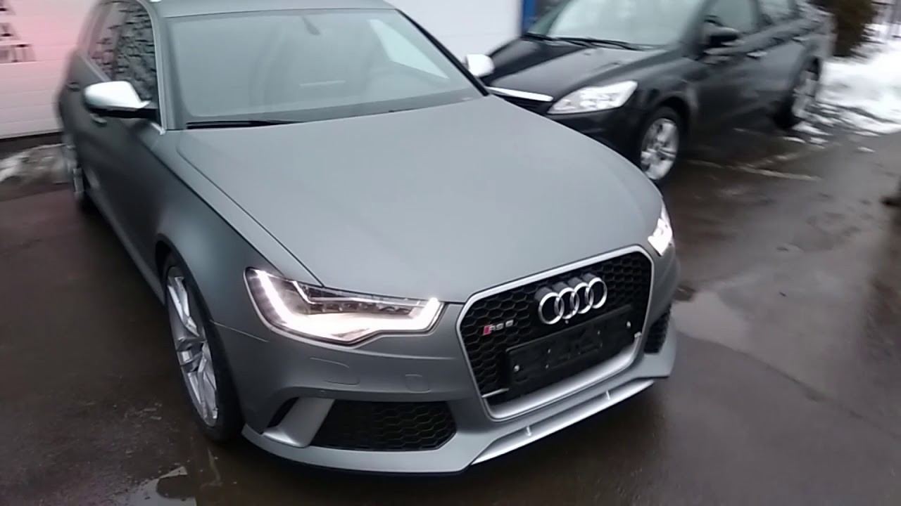Audi RS6 поклейка в серо-матовую плёнку. Проект перевоплощение...