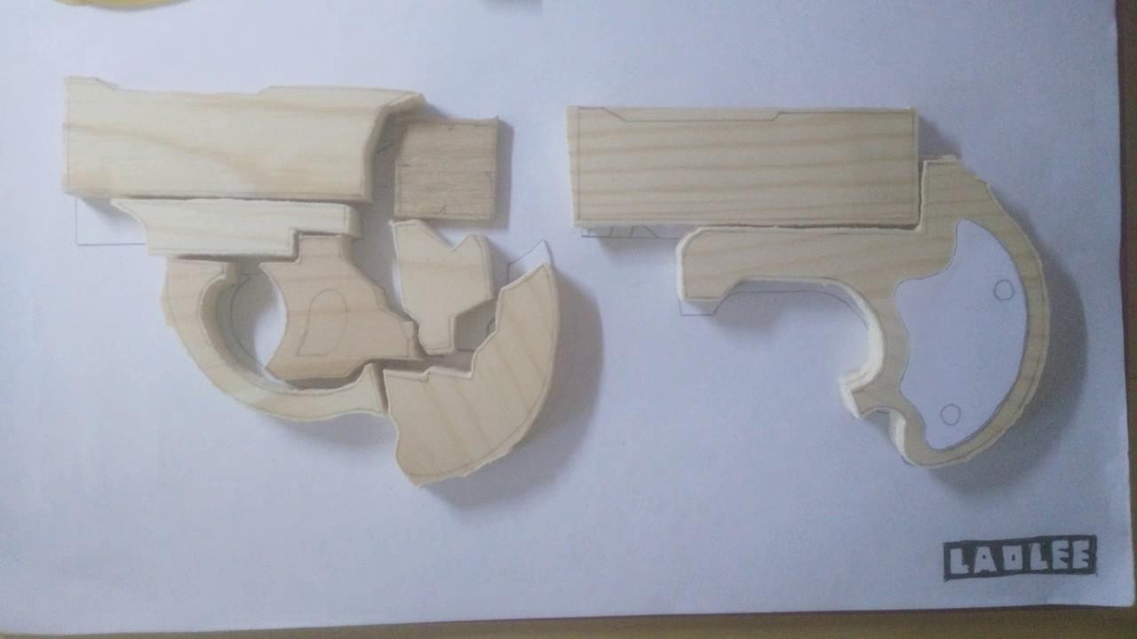 Rubber Band Gun Derringer v01