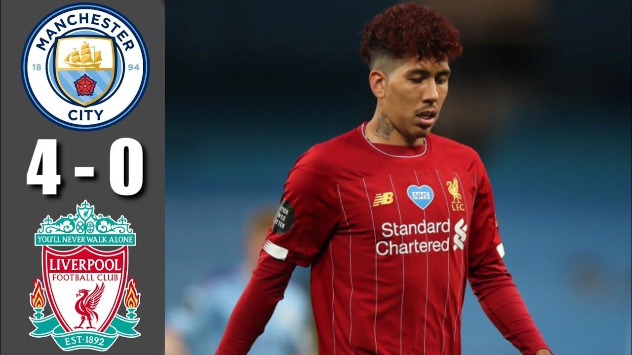 Manchester city vs Liverpool 4-0 All goals highlights ...