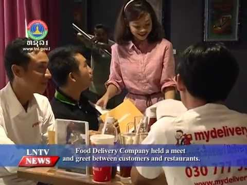 Lao NEWS on LNTV: Food Delivery Co. held a meet and greet between customers & restaurants.4/7/2016.