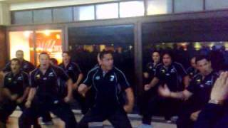 all golds haka at Leeds Train station