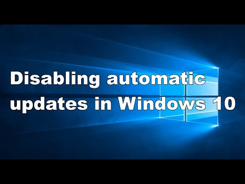 Disabling automatic updates