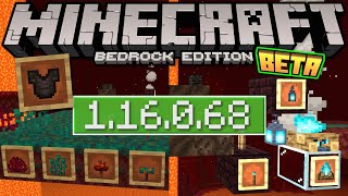 Minecraft Bedrock BETA 1.16.0.68 OUT NOW ! + Block Preview [ Change Log ] MCPE / Xbox / Windows