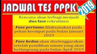 Jadwal Tes PPPK P3K 2019