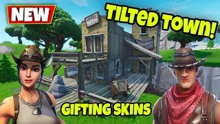 *NEW* NEO TILTED TURNING into TILTED TOWN HAPPENING NOW! GIFTING BATTLEPASS (fortnite live event)