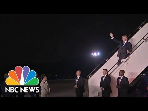 President Donald Trump Arrives In Singapore for Historic North Korean Summit | NBC News