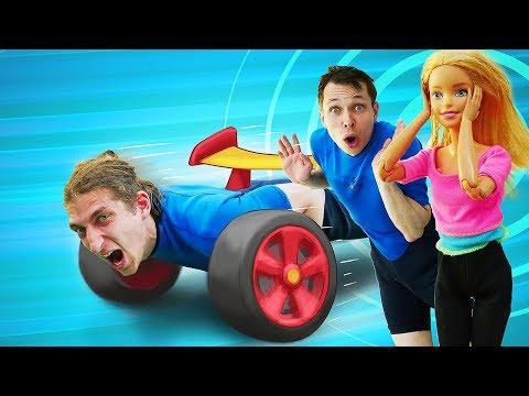 Игры Трансформеры - Десептиконы в Аквапарке! Спасаем куклу Барби! – Видео шоу для детей Акватим.