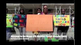 FPA-Foundation-Message To The Mayor- Parents on the Steps of city Hall