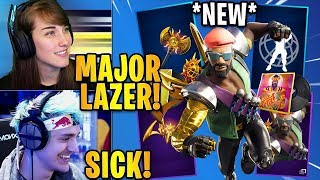 """Streamers React to the NEW &quotMAJOR LAZER BUNDLE"""" in Fortnite! Fortnite Highlights ..."""