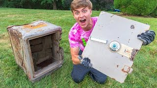 I CUT THE SAFE DOOR OFF!! (COPS CALLED) thumbnail