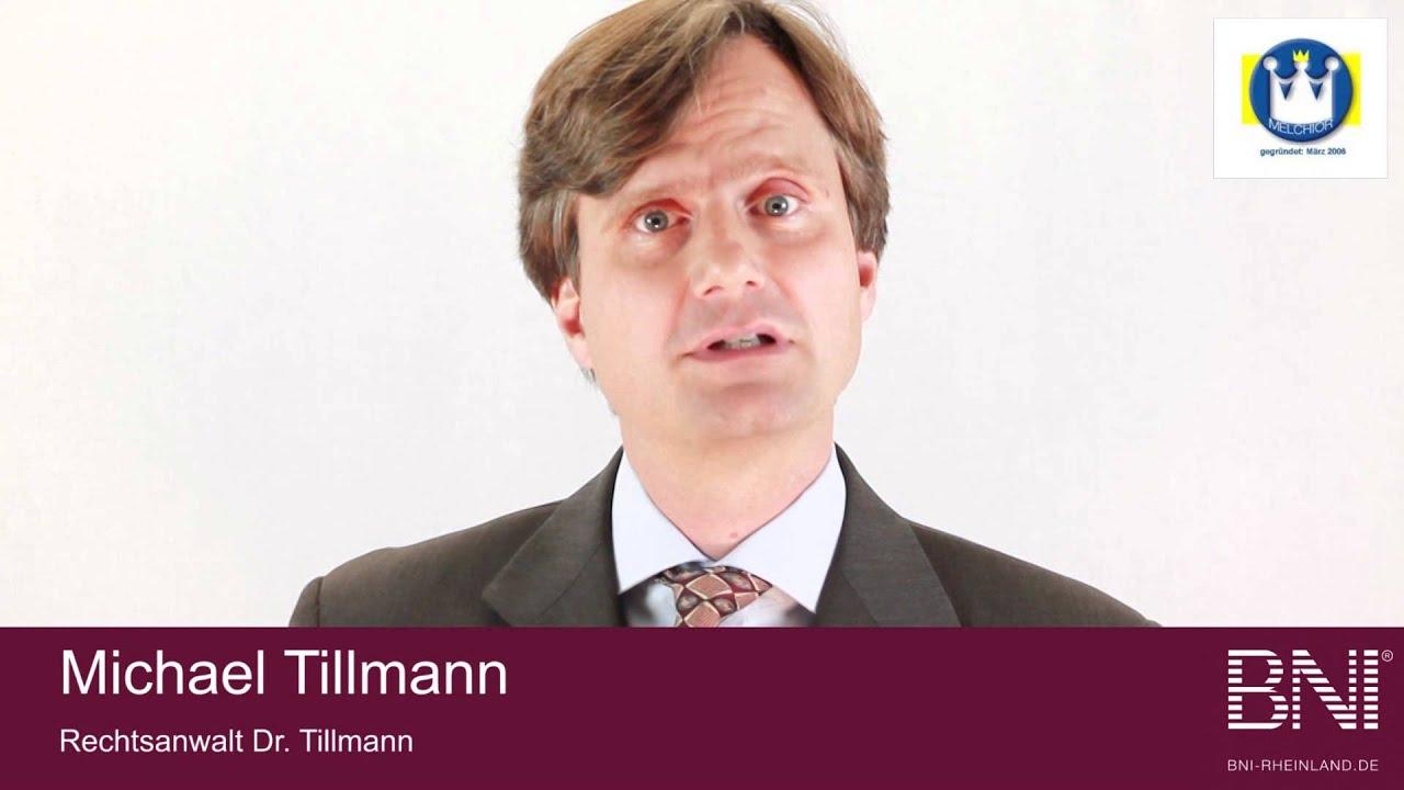Unternehmervorstellung Bni Melchior Michael Tillmann