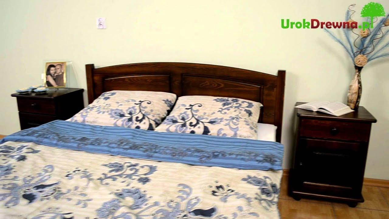 łóżko Drewniane Sosnowe Mario Kolor Orzechwenge Urokdrewnapl