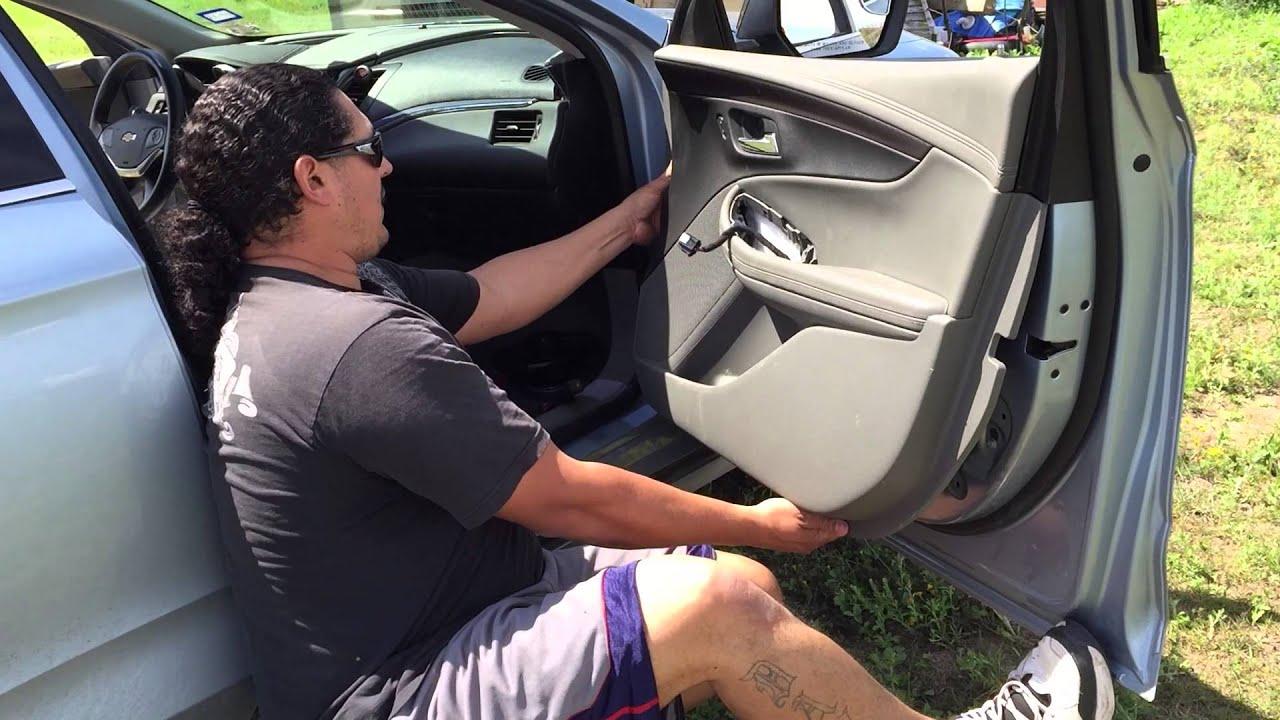2014 Impala Door Speaker Upgrade Youtube
