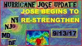 Hurricane JOSE UPDATE! JOSE has Strengthened over night. EAST COAST chances RISE!