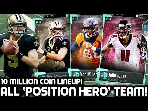 ALL POSTION HERO TEAM! 10 MILLION COIN LINEUP! Madden 18 Ultimate Team
