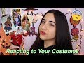Reacting to Halloween Costumes: Best + WORST (Guessing My Subscriber's Costumes) | Just Sharon