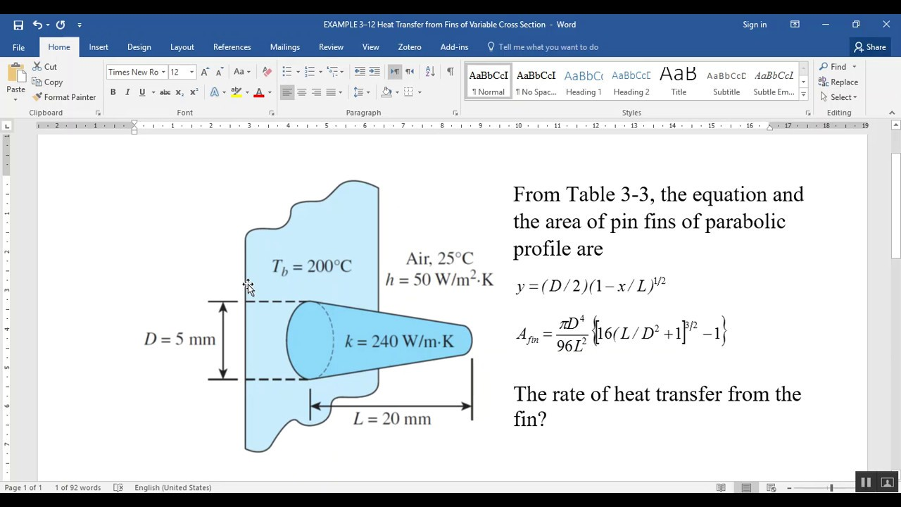 comsol conduction heat transfer example heat transfer from comsol conduction heat transfer example 3 12 heat transfer from fins of variable cross section