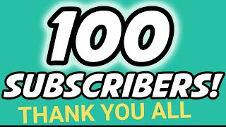 100+ SUBSCRIBER WE DID IT EVERYONE! THANK YOU SOOO MUCH