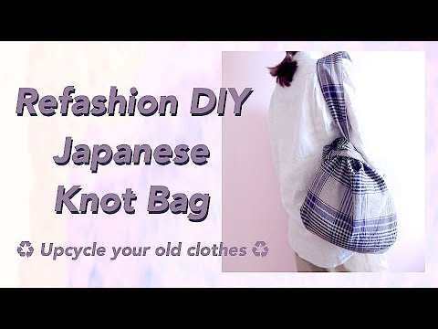 Refashion DIY Japanese Knot Bag / 手作教學 / Costura / Sewing Tutorialㅣmadebyaya