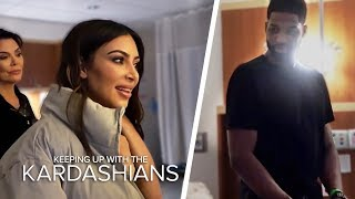 Kim And Tristan Thompson Come Face To Face In Khloe's Delivery Room | KUWTK | E!