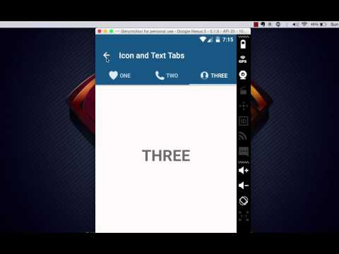 Android Material Design Tabs Tutorial (Demo)