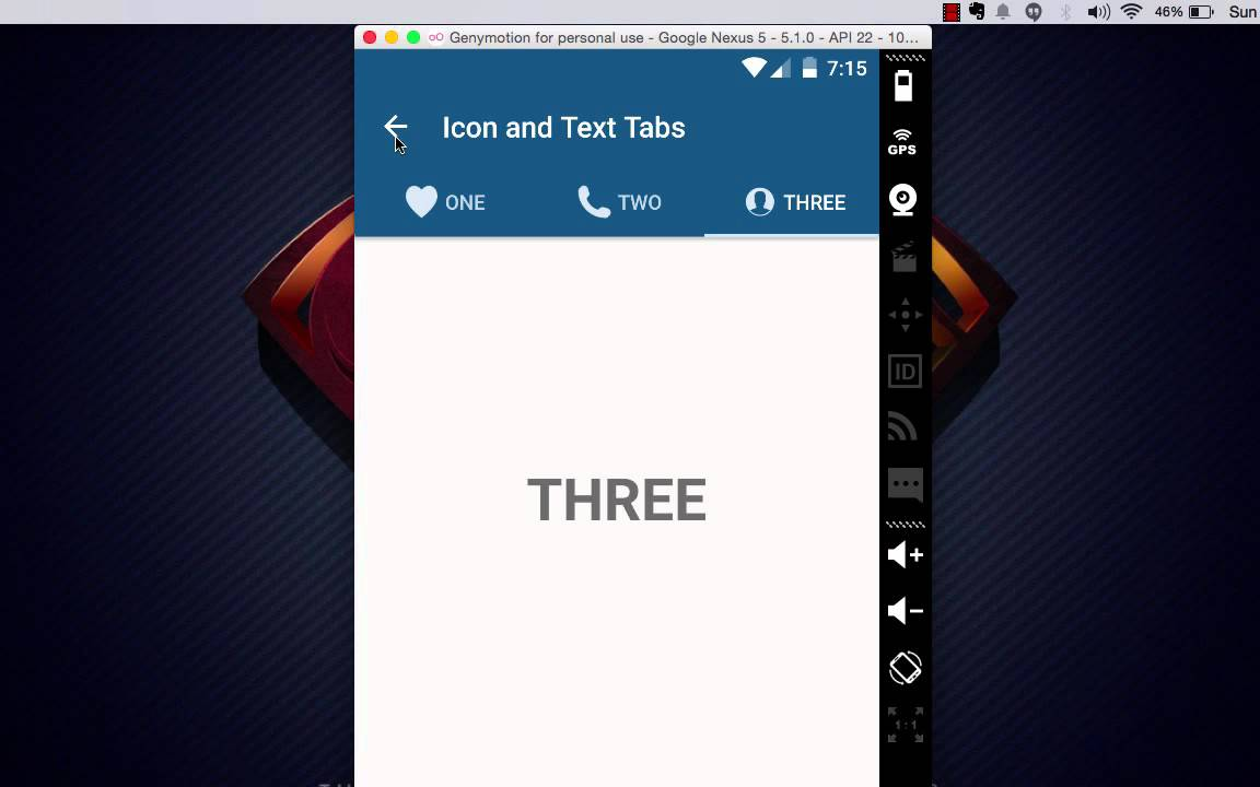 Android Material Design working with Tabs