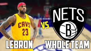 CAN LEBRON JAMES BEAT THE WORST NBA TEAM BY HIMSELF? NBA 2K17!