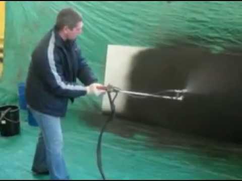 Напыляемая гидроизоляция - Жидкая резина - YouTube