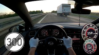 VW GOLF 7 GTI MK7 GERMAN AUTOBAHN NO LIMIT TOP SPEED TESTDRIVE
