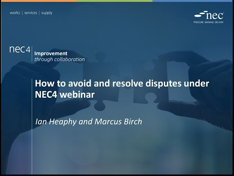 How to avoid and resolve disputes under NEC4 webinar