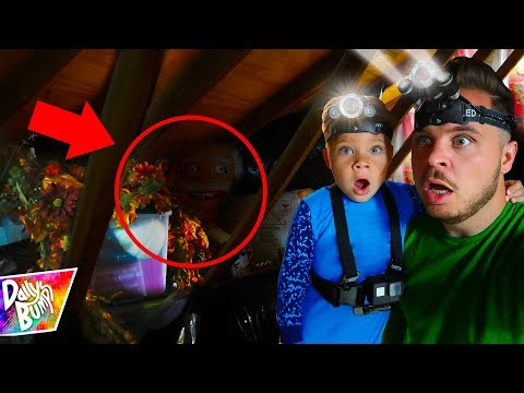 Exploring Our Spooky Attic! (WHAT'S INSIDE??)