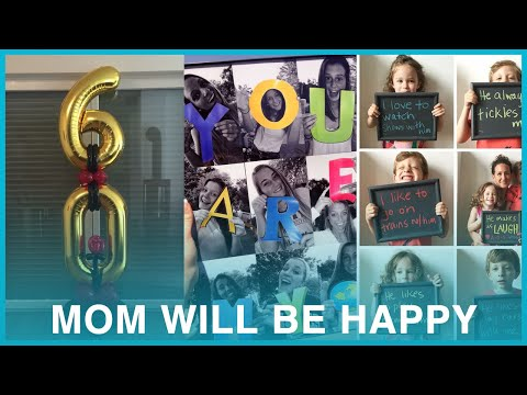 60th Birthday gift ideas for Mom & welcome home ideas that will make her happy