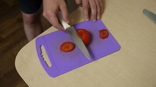 Результат простой заточки ножа копеечным бруском